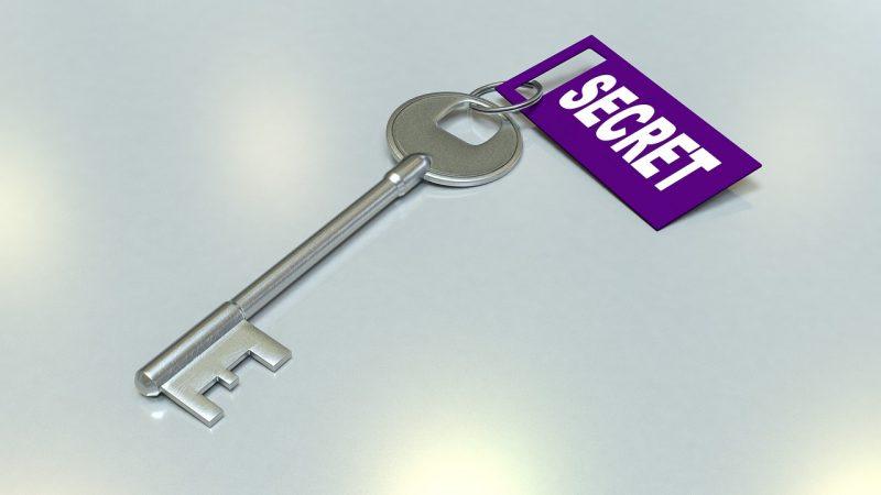 秘密の鍵のイメージ写真